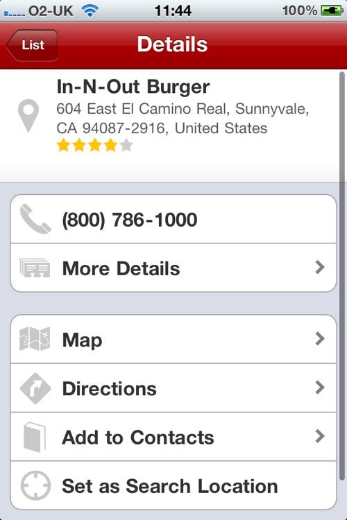 InO Finder - Find your nearest In-n-Out Burger by ActiveGuru Ltd