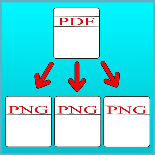 PDF To PNG Converter - Convert unlimited PDF file into images iOS App