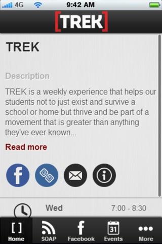 TREK App screenshot 2