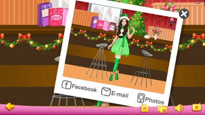 Screenshots of Dress Up - Christmas Girls for iPhone