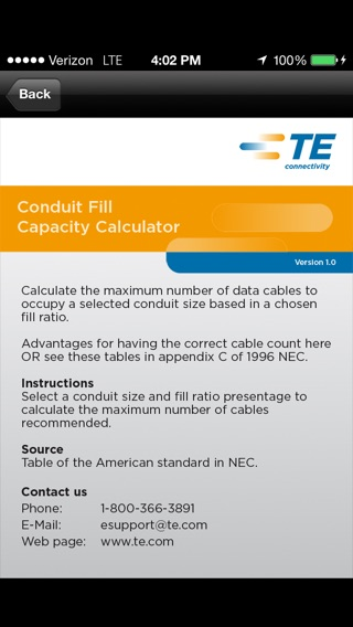 Conduit fill chart best resumes iphone screenshot 1 greentooth Image collections