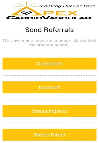 APEX Cardiovascular Referrals screenshot 3
