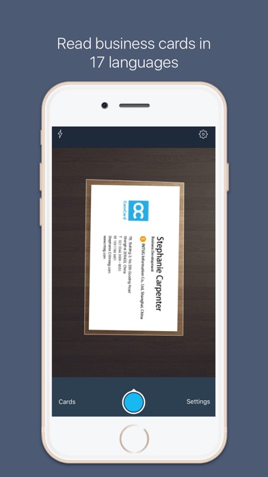 Camcard for salesforce scan bizcard to salesforce on the for Business card scanner app for iphone