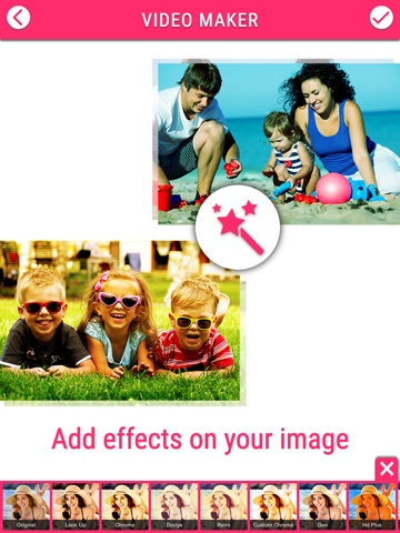 Screenshots of Video Maker Free - Create Video Slide show for FREE for iPad