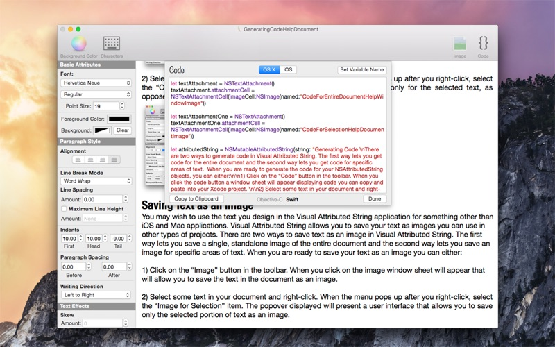 Visual Attributed String DMG Cracked for Mac Free Download