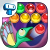 Gecko Pop - Spiel des Shoot farbigen Blasen