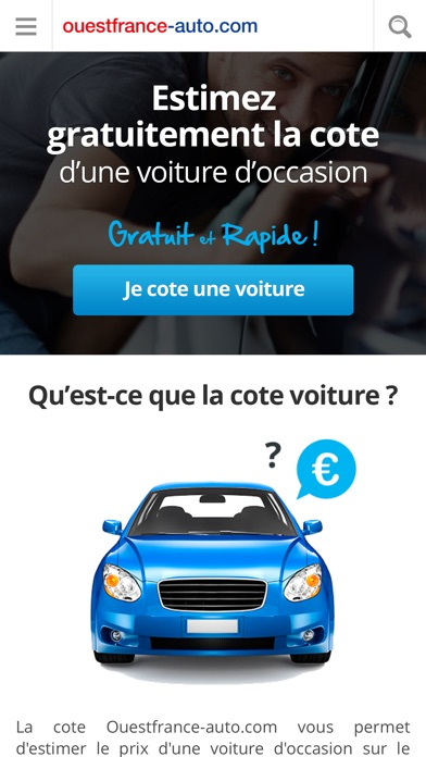 ouest france auto annonces voiture occasion cote gratuite dans l app store. Black Bedroom Furniture Sets. Home Design Ideas