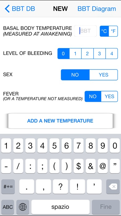 Basal body temperature calculator on the app store for Application iphone temperature interieur