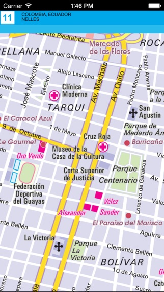 download Colombia, Ecuador. Tourist map. apps 1