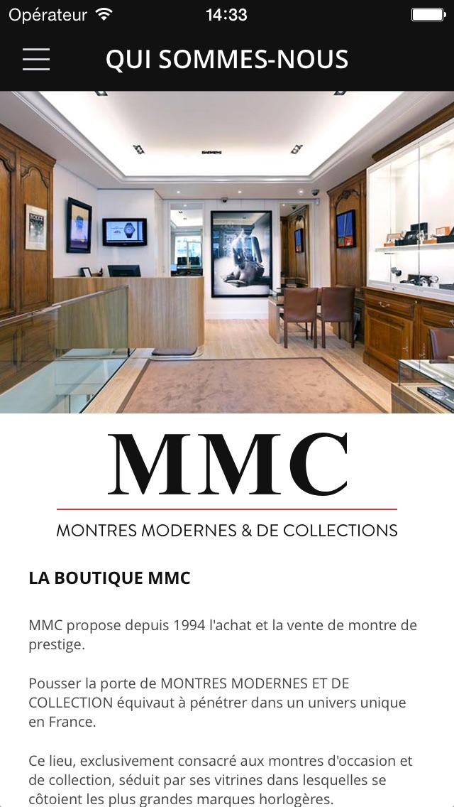 MMC : Montres Modernes et de CollectionCapture d'écran de 5