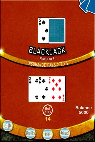 Blackjack 21 Casino - BlackJack Trainer screenshot 2