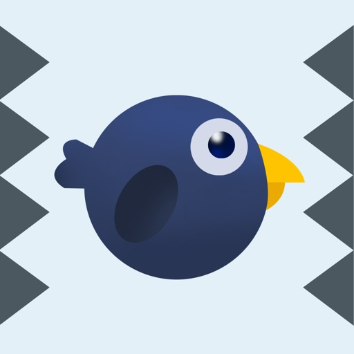 Flying Bird in Spikes:Tap to play iOS App