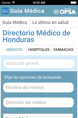 Directorio Médico de Honduras screenshot 4