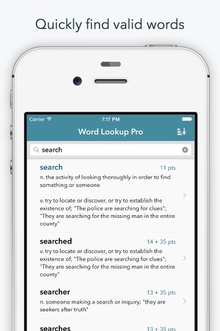 "Word Lookup Pro - Dictionary and Anagram Finder ""for Words With Friends"" screenshot 1"