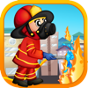 Fireman Rescue Rush PRO - Run and jump over the fire!