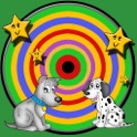dogs and darts for children - free game icon