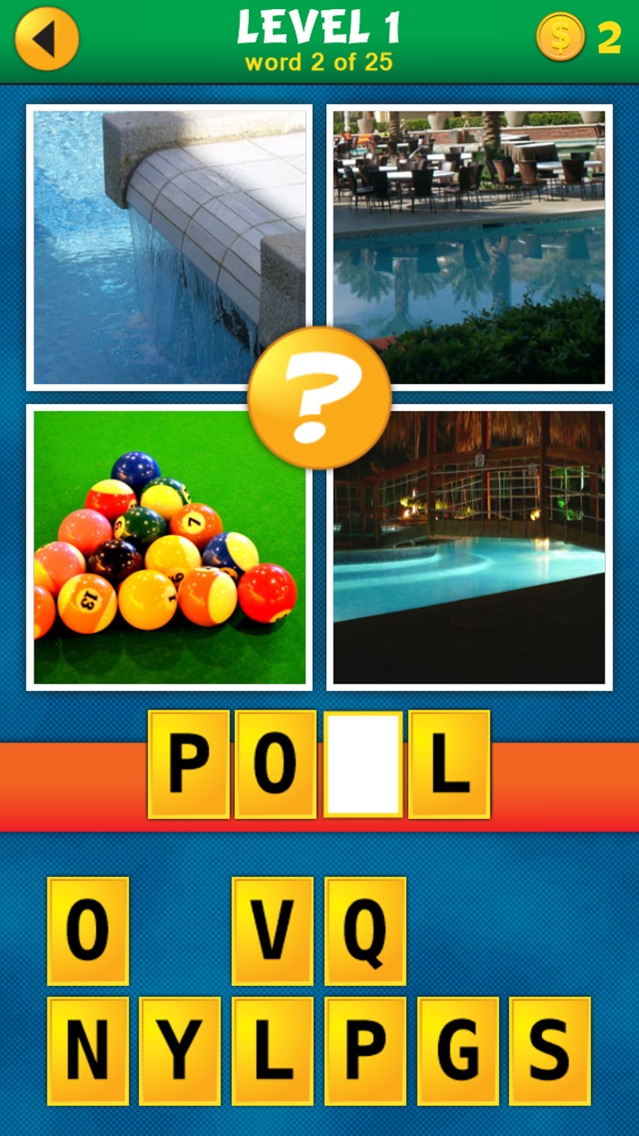 Screenshots of 4 Pics 1 Word Puzzle: What's That Word? for iPhone