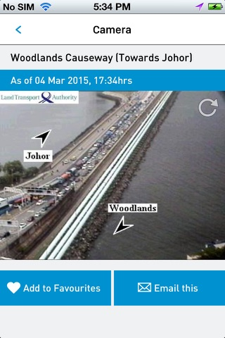 TraffiCam SG screenshot 2