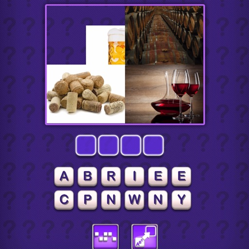 Choose 1 Correct Word For 4 Different Images - Puzzle iOS App