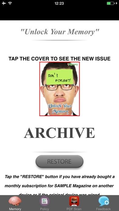 Unlock Your Memory - ... screenshot1