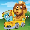 Animal Car Puzzle Free: Play Cute Jigsaw Puzzles and Paint Picture Games for Kids and Toddlers
