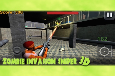 Zombie Invasion Sniper 3D screenshot 4