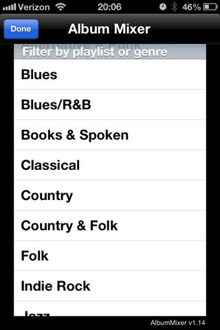AlbumMixer - Shuffle by Album screenshot 1