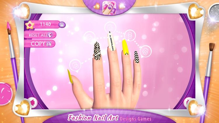 Fashion Nail Art Designs Game: Pink Nails Manicure Salon and Beauty ...