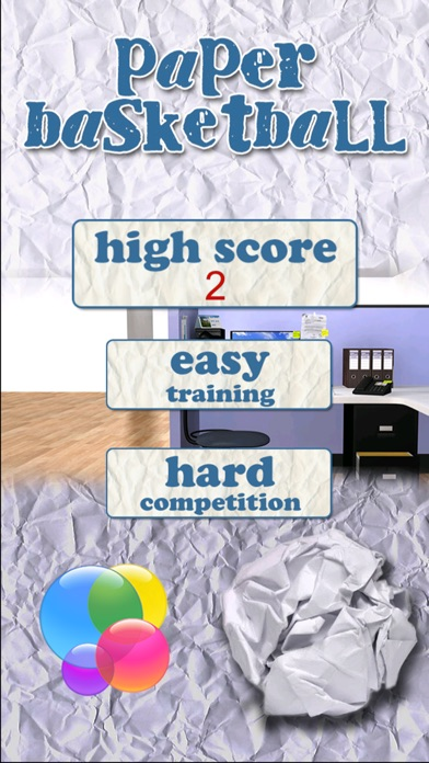 Paper Basketball Office screenshot1