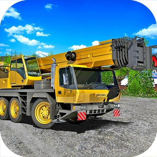 Construction Crane Drive : 3D Builder Sim-ulator iOS App
