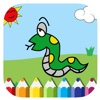 Draw Snake Coloring Book Game For Children children