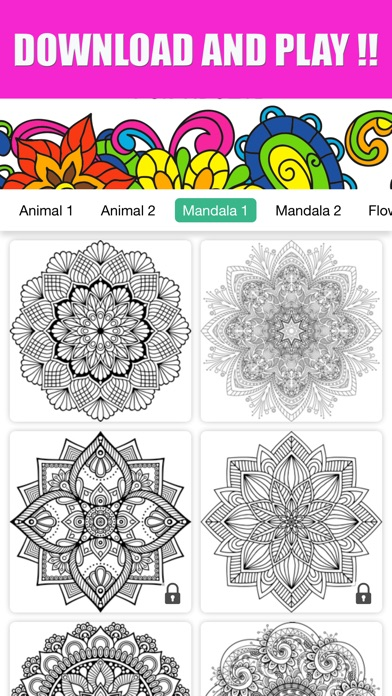 Adults Coloring Book Color Therapy For Anti Stress App