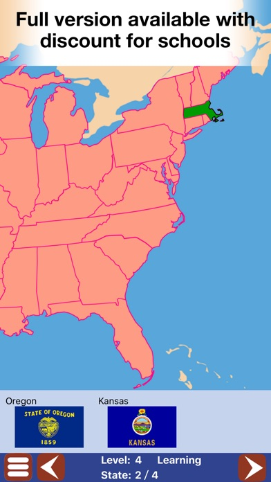 Geo Touch Geography Game US States The World On The App Store - Full map of us