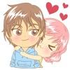 Love couple sweet romance 2 for iMessage Sticker emoticon sticker