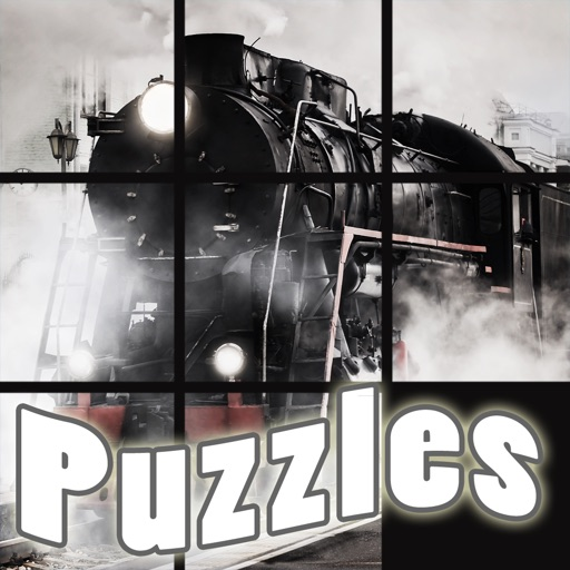 Awesome Trains and Planes Number Puzzle - Sliding photo tiles to complete the Photo FREE Icon