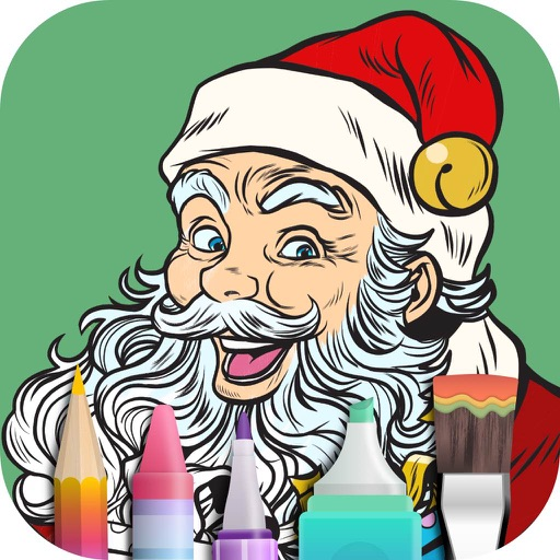 Coloring Book for Christmas iOS App