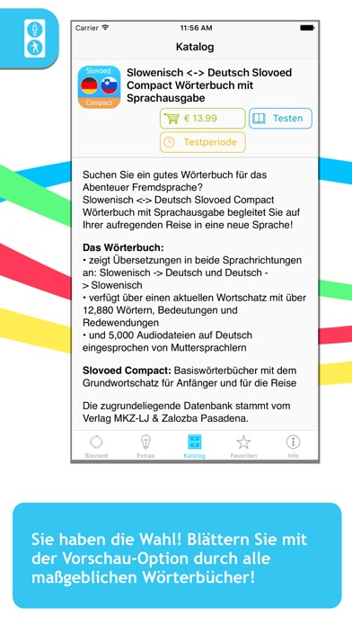 Slowenisch <-> Deutsch Slovoed Compact Wörterbuch Screenshot