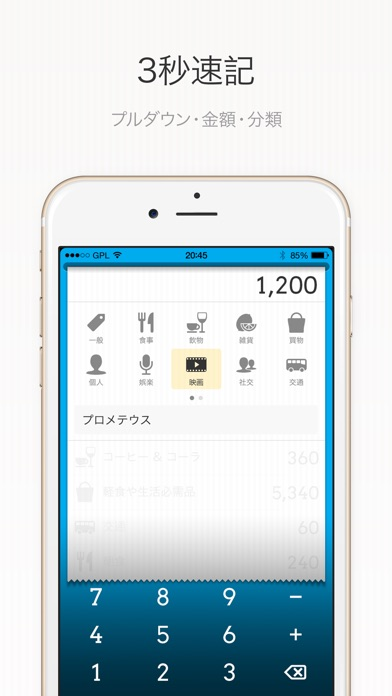 DailyCost - 優雅な簿記 screenshot1