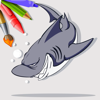 Sea Sharks Coloring Book Page Game For Kids Wiki