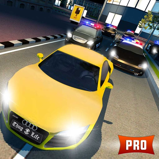 Police Car Chase 3D PRO: Night Mode Escape Racing By Waqas