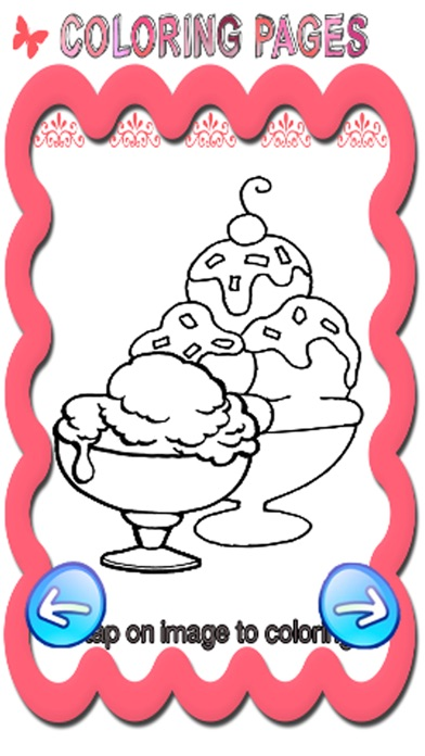 Free Coloring Book Game For Ice Cream Frozen App Download
