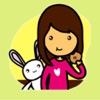 Girl and Rabbit > Best Stickers!