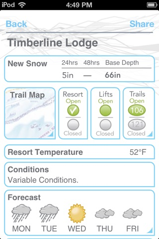 Ski and Snow Report screenshot 2