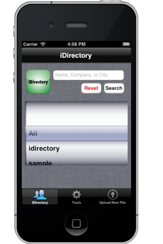 green iDirectory screenshot 1