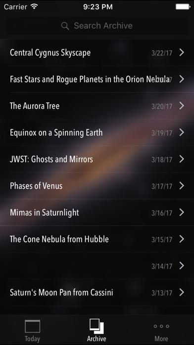 SpaceGeek: NASA APOD Astronomy Picture of the Day screenshot three