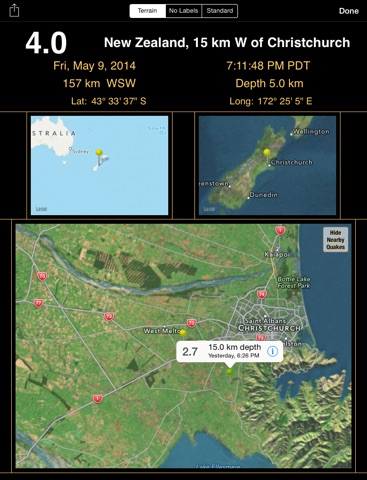 QuakeWatch: Latest Earthquakes screenshot 3
