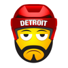 Detroit Hockey Stickers & Emojis