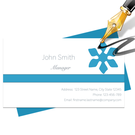 Blue Penguin Business Card Designer for Mac