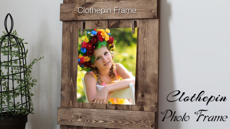 Clothes Pin Photos frame editor : Clothespin frame by jitendra khunt