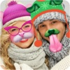 Winter Photo Stickers: Animal Snap Face Changer